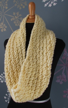 Garter Striped Cowl