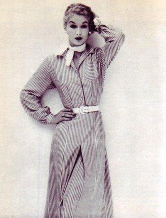 shirtwaist 1950's